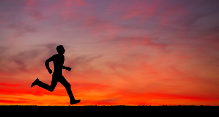 Peak Persona Running at Dawn