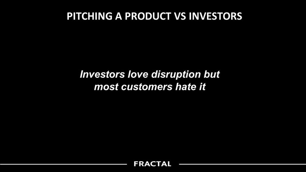 PITCHING A PRODUCT Vs INVESTORS