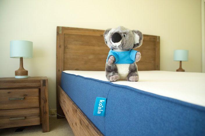 Koala toy on Koala Mattress